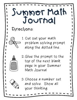 Summer Math Journal {10 Weeks of CCSS Math Problem Solving}