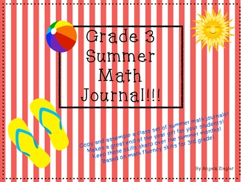 Summer Math Journal Grade 3