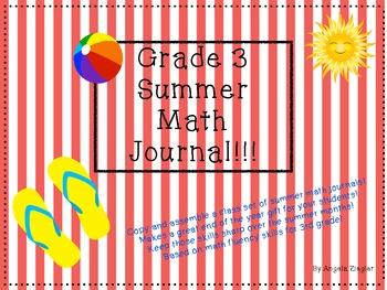 Summer Math Journal Grade 3