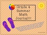 Summer Math Journal Grade 4