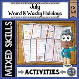 Summer Math July Weird and Wacky Holidays
