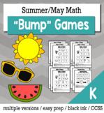 Summer Math Kindergarten Bump Games Bundle