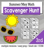 Summer Math 3rd Grade Scavenger Hunt Game Bundle
