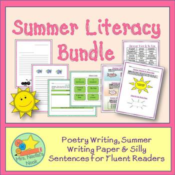 Summer Activities Math and Literacy Bundle