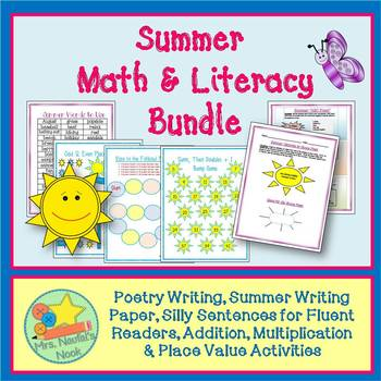Summer Math & Literacy - Math Games, Poetry Writing, Word