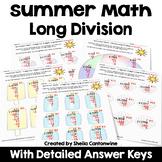 Summer Math Packet Long Division Worksheets