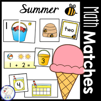 Summer Math Matches: Numbers 1-20