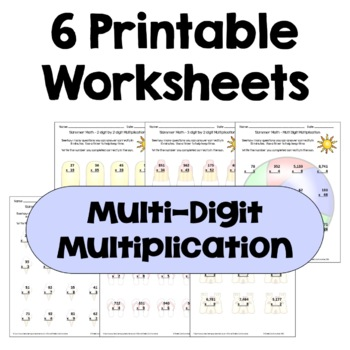Summer Math - Multi Digit Multiplication