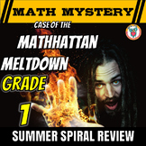 1st Grade Summer Math Mystery Activity: Case of The Mathhattan Meltdown