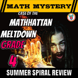 Summer Math Mystery Activity: Decimals, Angles, Subtract, Add, Multiply