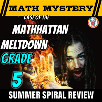 Summer Math Mystery Activity: Decimals, Angles, Subtract, Add, Multiply -GRADE 5