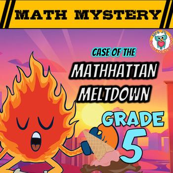 Summer Math Mystery Activity: Decimals, Angles, Subtract,