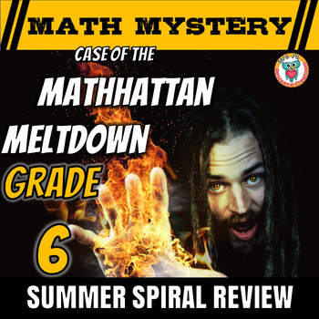 Summer Math Mystery Activity: Integers, Mean, Decimals, Word Problems - GRADE 6