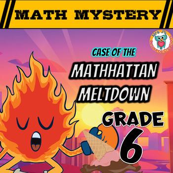 Summer Math Mystery Activity: Integers, Mean, Decimals, Word Problems - GRADE 6