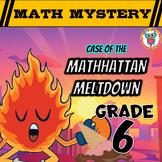 Summer Math Mystery Activity: Integers, Mean, Decimals, Wo