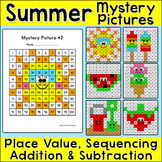 Summer Hundreds Chart Mystery Pictures Bundle - End of Yea