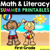Summer Review Math and Literacy No-Prep {First Grade}