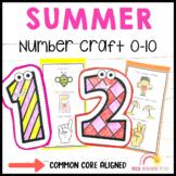 Summer Math Number Craft Activities
