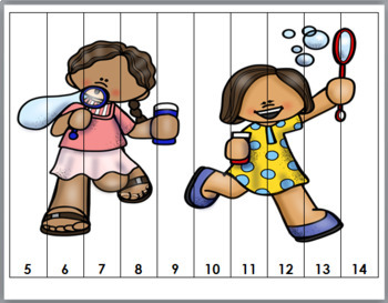 Number Puzzles 1-20 - Summer Math
