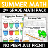 Summer Math Pack: No Prep Worksheets/Activities for 2nd Grade