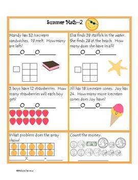 Summer Common Core Math Packet-2nd grade