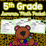 Summer Math Packet - 5th Grade (No Prep)