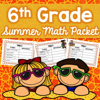 6th Grade Summer Math Packet Worksheets & Teaching Resources