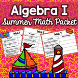 Summer Math Packet - Algebra I (No Prep)