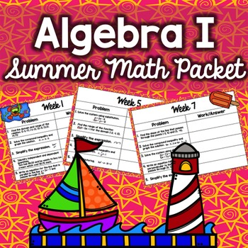 Summer Math Packet - Algebra I (No Prep)