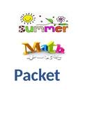 Summer Math Packet Cover