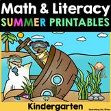 Summer Review Math & Literacy No-Prep {Kindergarten}