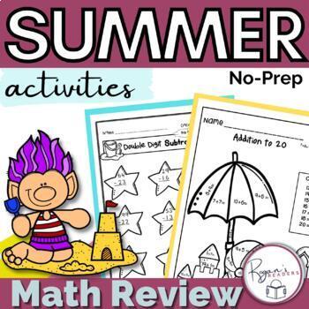 Summer Math Packet - NO PREP
