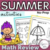 Summer Math Packet - NO PREP