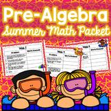 Summer Math Packet - Pre-Algebra (No Prep)