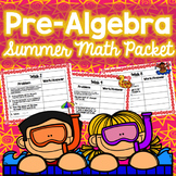 Summer Math Packet - Pre-Algebra (No Prep)
