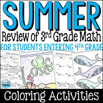 Back to School Math Packet: Third Grade Math Review for Rising Fourth Graders