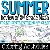 Summer Math Packet: Third Grade Math Review for Rising Fourth Graders