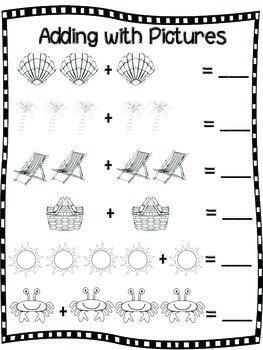 Summer Math Packet for Kindergarten