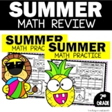 Summer Math Packets   1st and 2nd Grade Worksheets