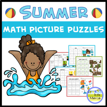Summer Math Coloring Puzzles Teaching Resources | Teachers Pay Teachers