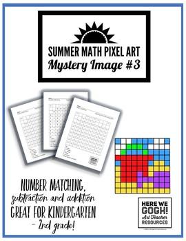 Summer Math Pixel Art: Mystery Image #3