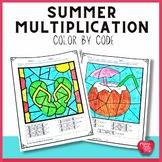 Summer Math Practice Multiplication Printable
