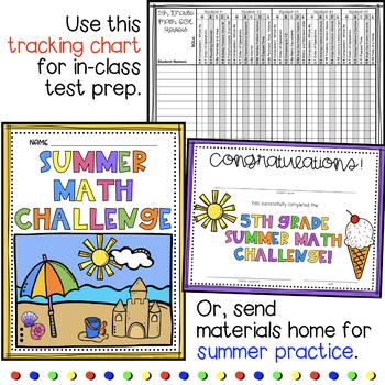 Summer Math Practice for Rising 6th Graders (Review of 5th Grade VA Math SOLs)