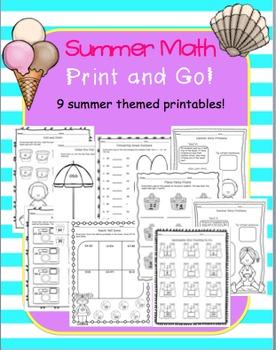 Summer Math Print and Go!