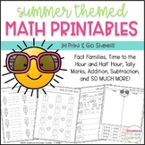 Summer Math Printables ~ 34 Print & Go Sheets