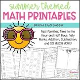 Summer Math Printables ~ 34 Print & Go Sheets