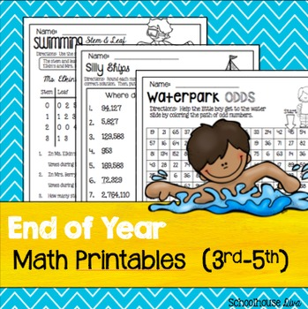 End of Year Math Printables