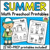 Summer Math Printables for Preschool