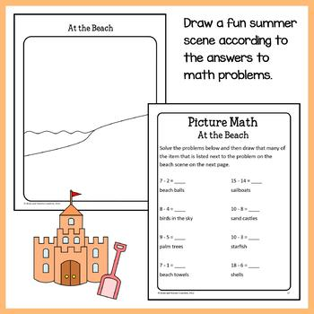 Summer Math Puzzles - 1st Grade Common Core