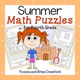 Summer Math Puzzles - 4th Grade Common Core